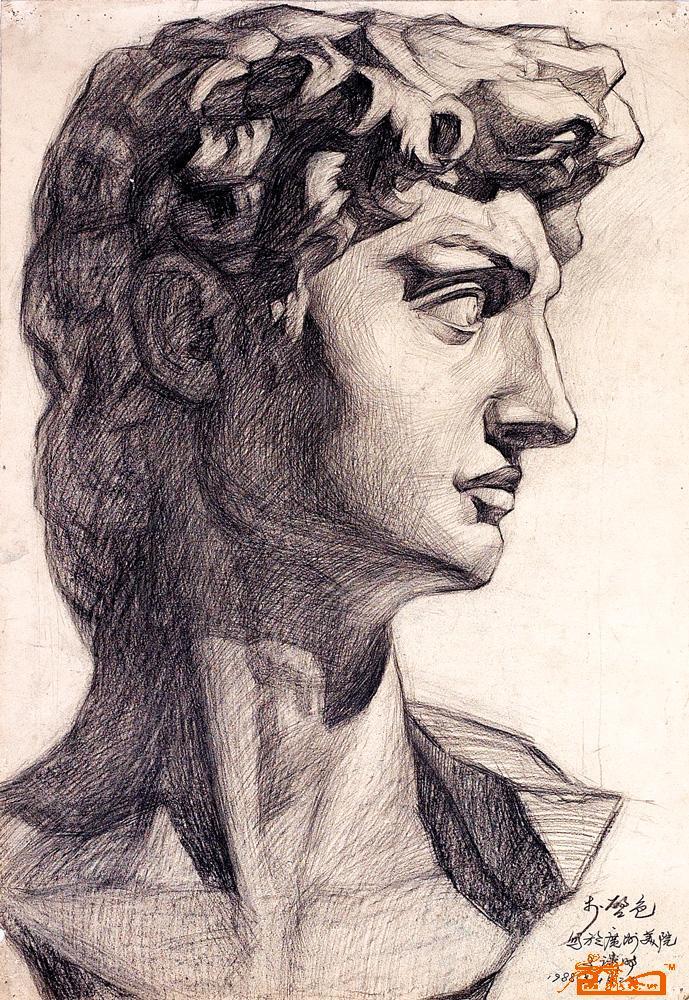 素描7.大卫石膏像图片